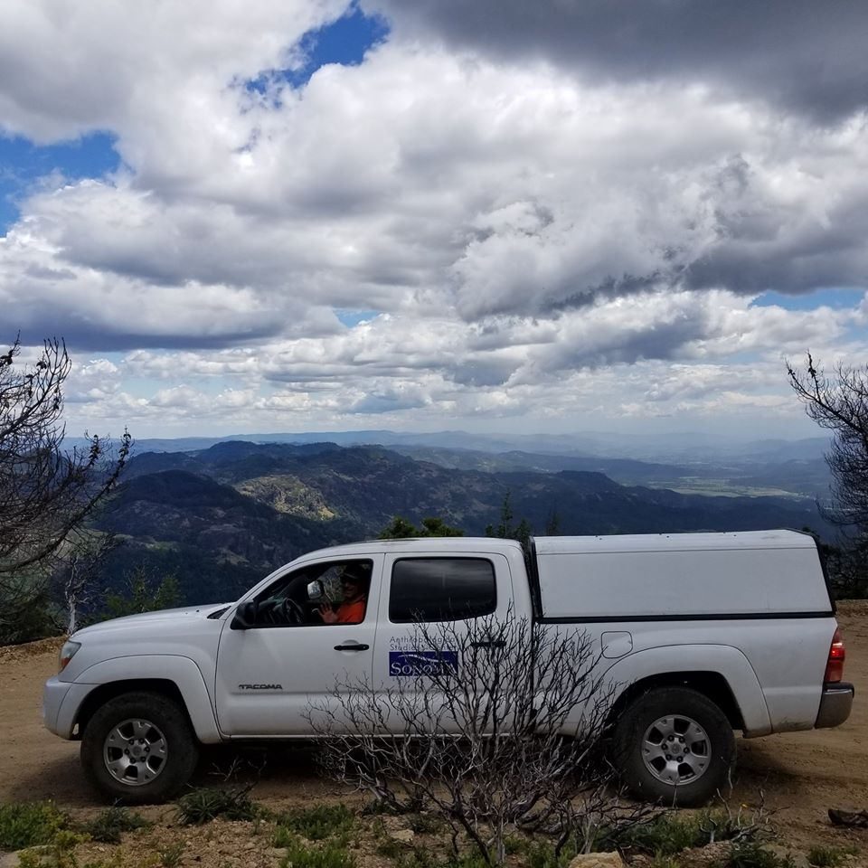 ASC truck at Mt St Helena State Park